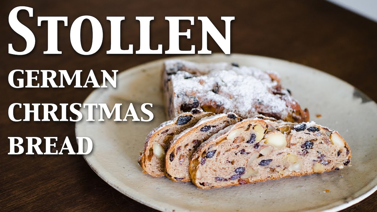 German Christmas Bread Stollen Recipe  Stollen german christmas bread vegan ☆ シュトレン