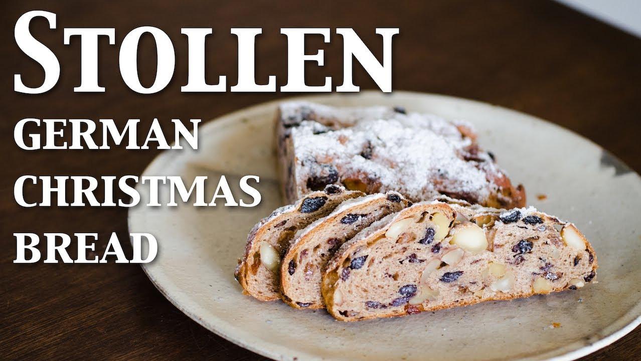 German Christmas Bread  Stollen german christmas bread vegan ☆ シュトレン