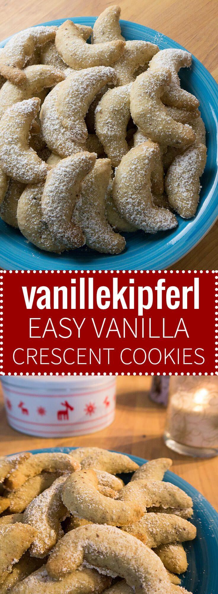 German Christmas Cookies  Vanillekipferl German Vanilla Crescent Cookies are