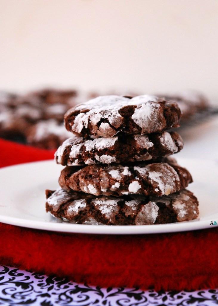 Gf Christmas Cookies  Christmas Chocolate Peppermint Crinkle Cookies GF Vegan