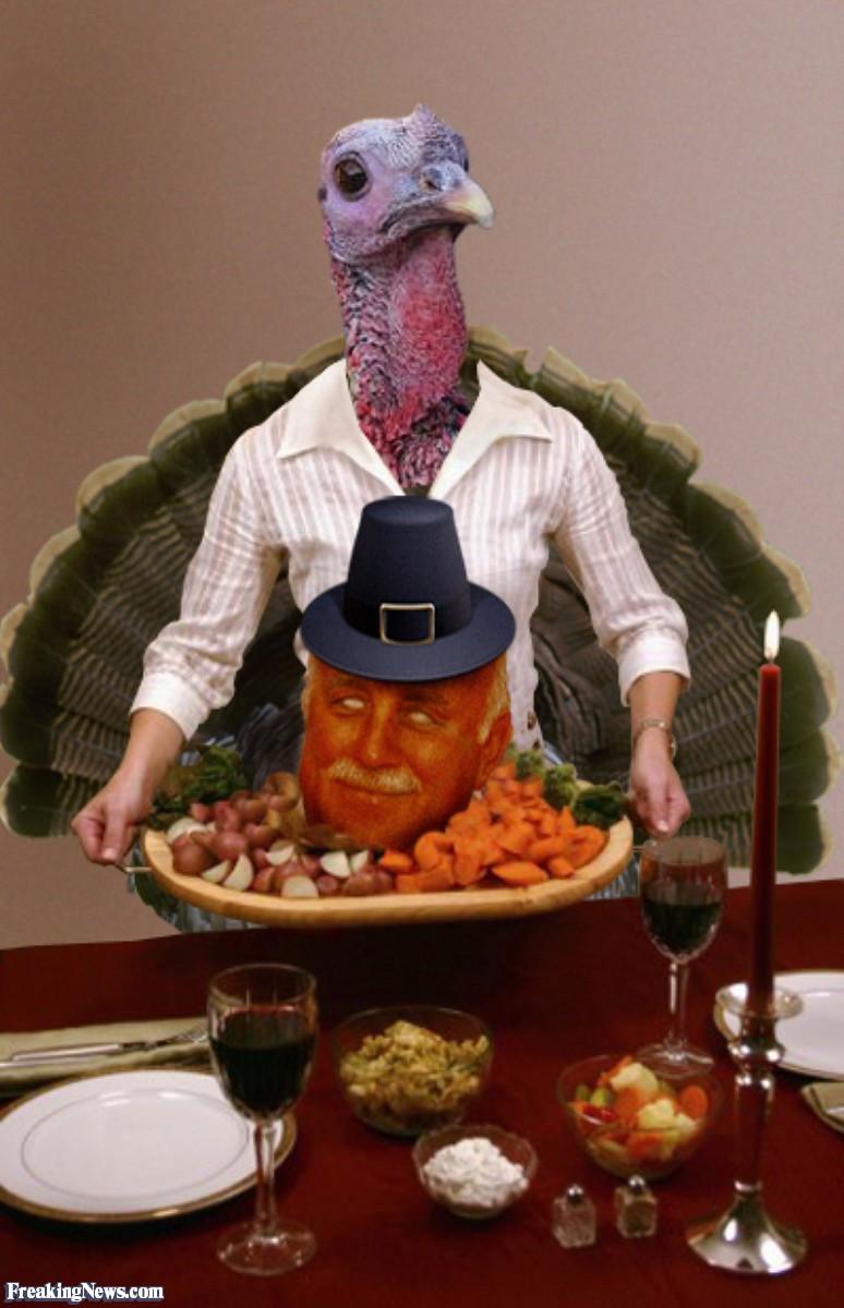Giant Thanksgiving Turkey Dinner  Funny Chef Freaking News