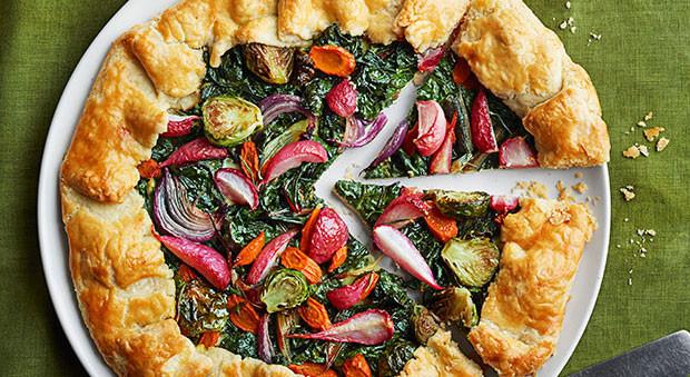 Good Christmas Side Dishes  Winter Veggie Tarts Recipe