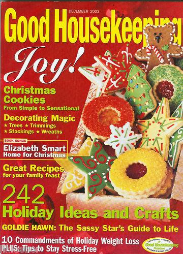 Good Housekeeping Christmas Cookies  Good Housekeeping December 2003 Christmas Cookies IDEAS