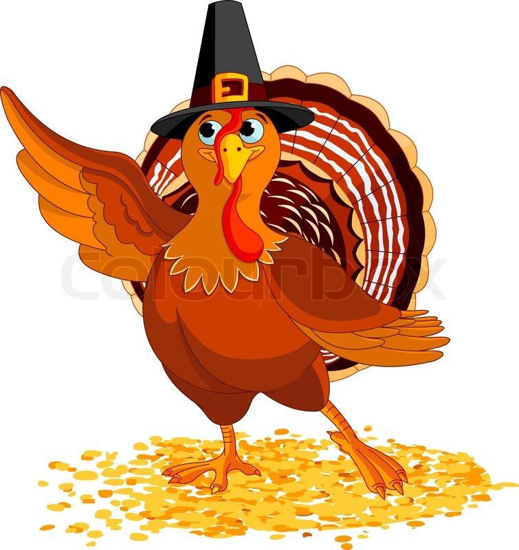Gracias The Thanksgiving Turkey  Illustration af Happy Thanksgiving