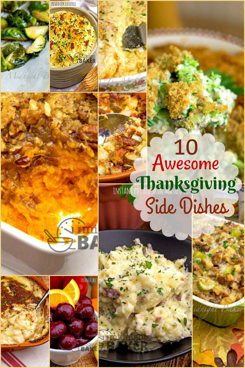 Great Christmas Side Dishes  10 Thanksgiving Side Dishes The Midnight Baker