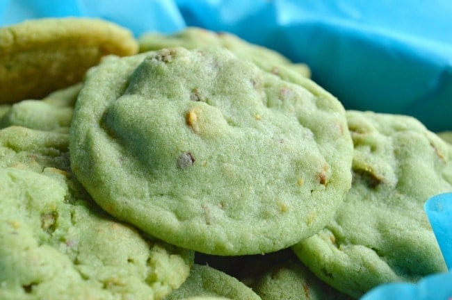 Green Christmas Cookies  Pistachio Pudding Cookies Sugar Dish Me