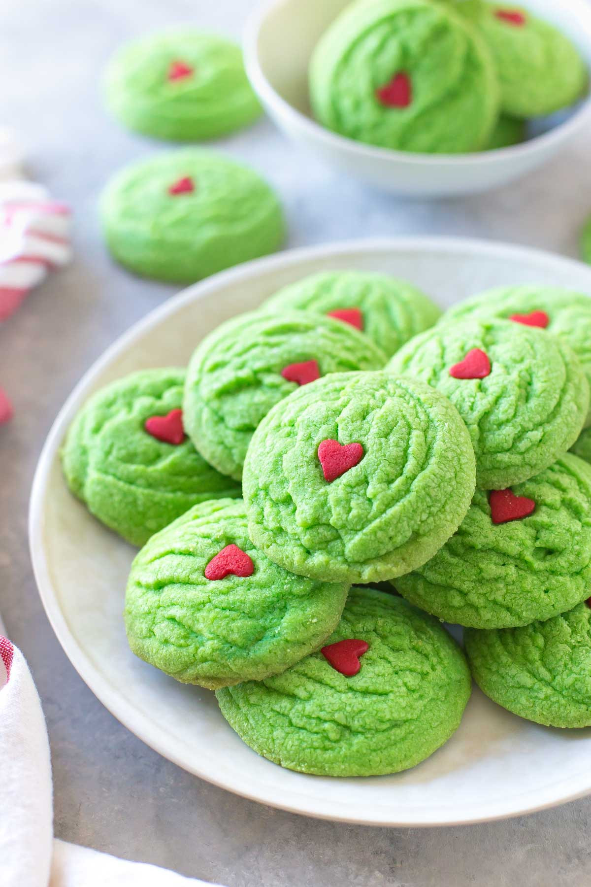 Grinch Christmas Cookies  Dairy Free Grinch Cookies Simply Whisked