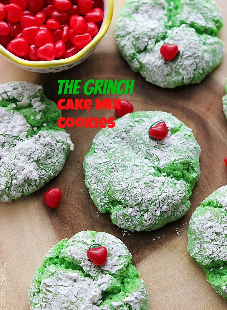 Grinch Christmas Cookies  Mandy s Recipe Box