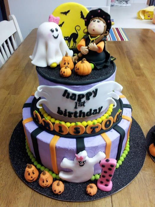 Halloween 1St Birthday Cake  Halloween 1st Birthday w Smash Cake cake by Peggy