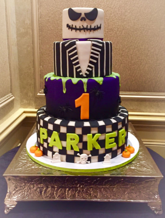 Halloween 1St Birthday Cake  Jack Skellington Halloween 1st birthday Cake Cake by