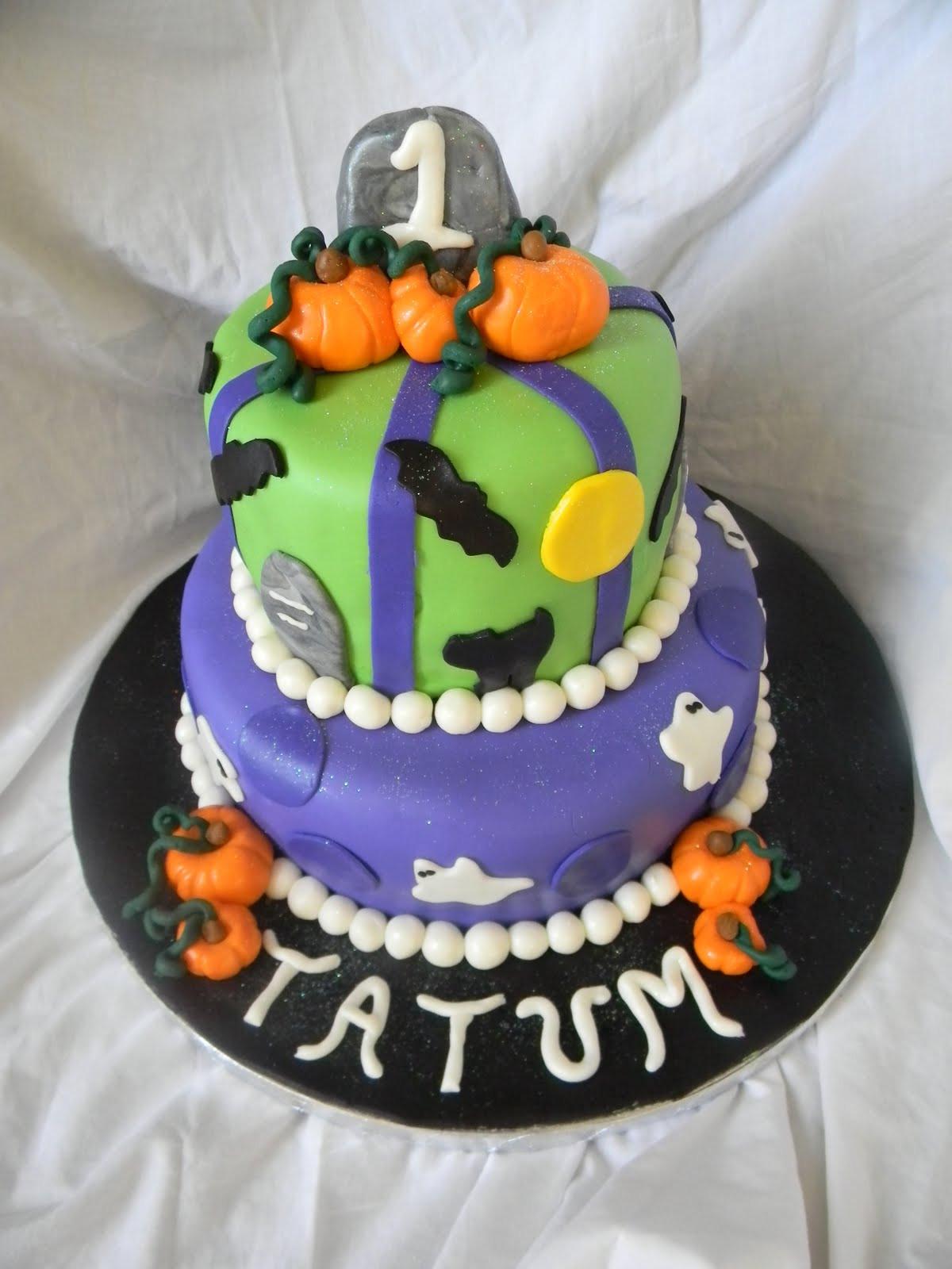 Halloween 1St Birthday Cake  Jesicakes Halloween First Birthday