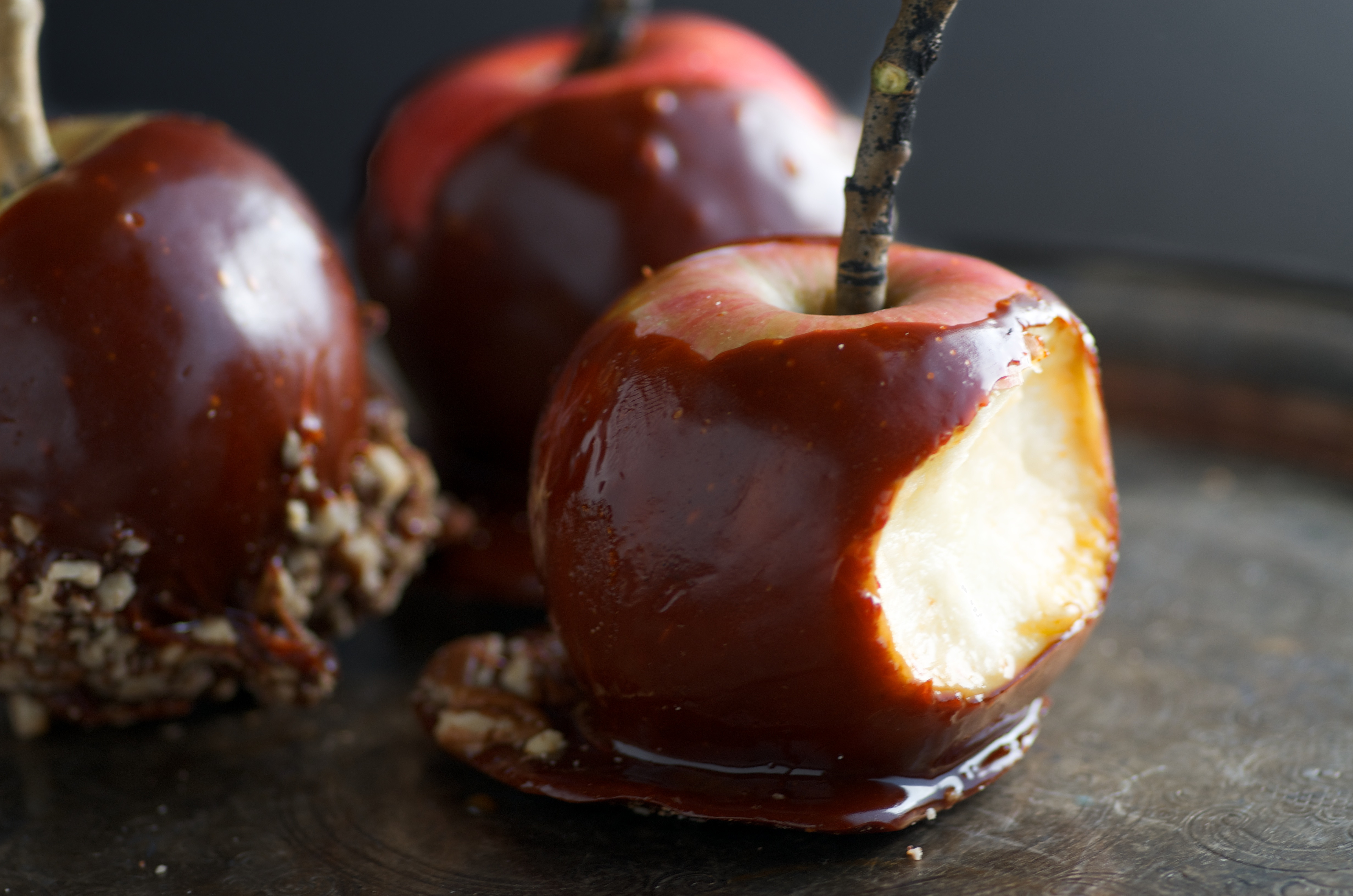 Halloween Apple Recipes  Spooky Honey Caramel Apples for Halloween Nourished Kitchen