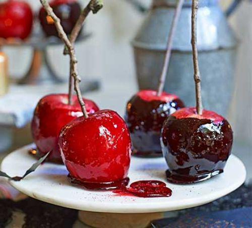 Halloween Apple Recipes  Halloween toffee apples recipe