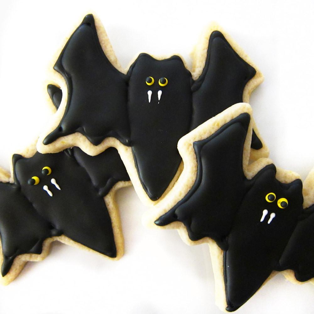 Halloween Bat Cookies  Chloe s Inspiration Halloween Cookies Celebrate & Decorate