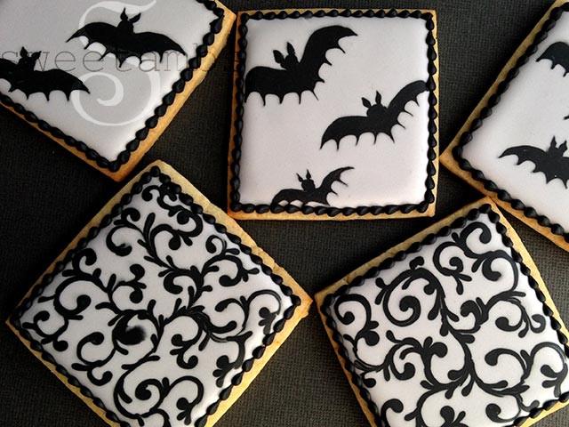 Halloween Bat Cookies  How To Decorate Bat Cookies For Halloween SweetAmbs