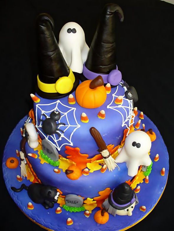 Halloween Birthday Cakes For Kids  Valentine e Halloween Cakes