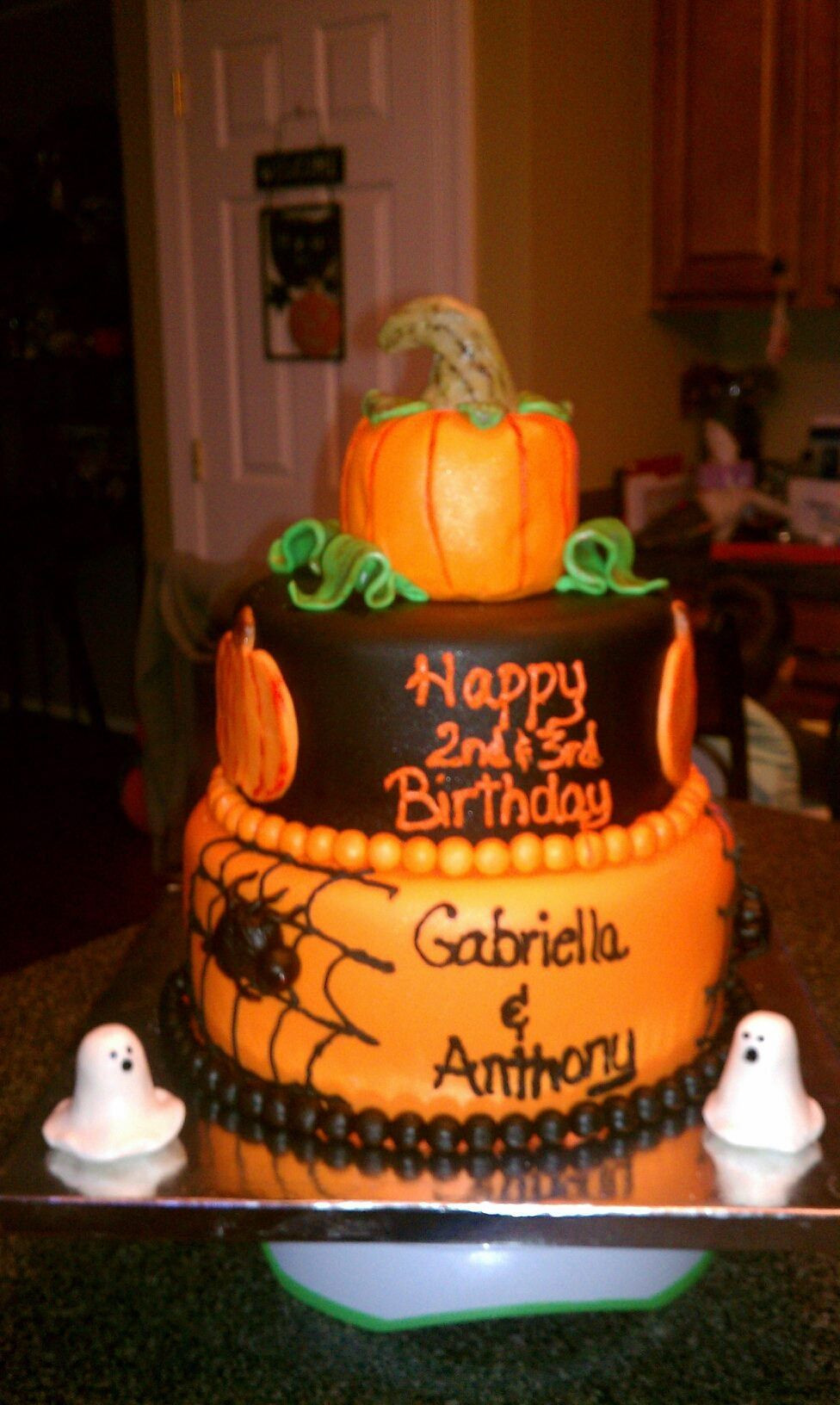 Halloween Birthday Cakes For Kids  Kids Halloween birthday cake My cakes