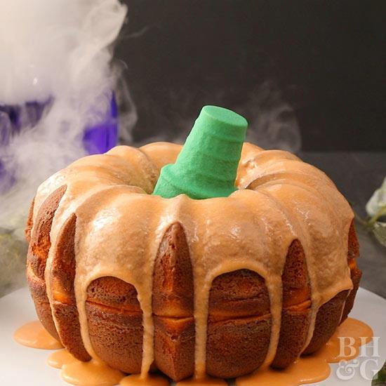 Halloween Bundt Cake  Halloween Cake Decorating Ideas from Better Homes