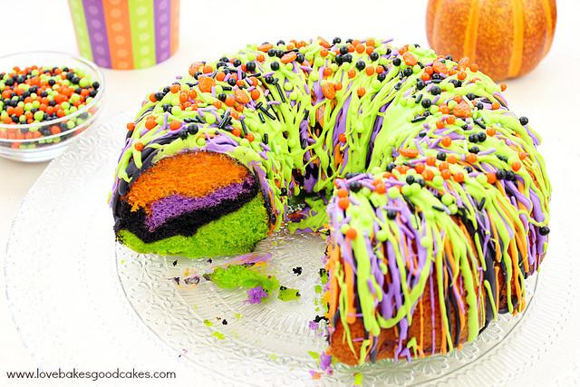 Halloween Bundt Cake  Halloween Dinner Ideas Cooking With Ruthie