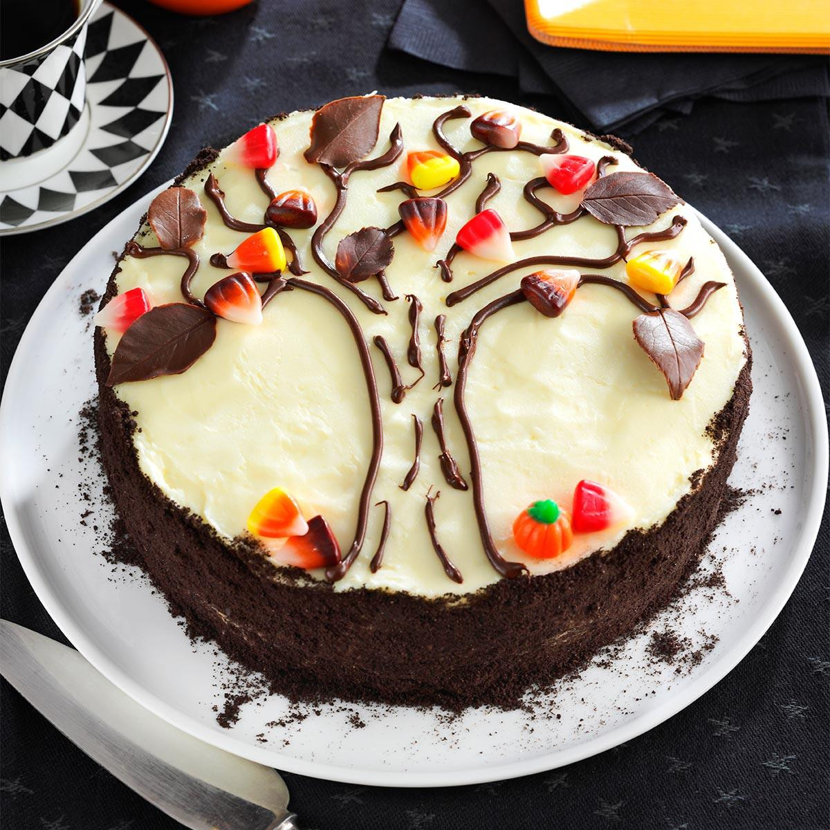 Halloween Cakes Recipes With Pictures  Autumn Tree Cake Recipe