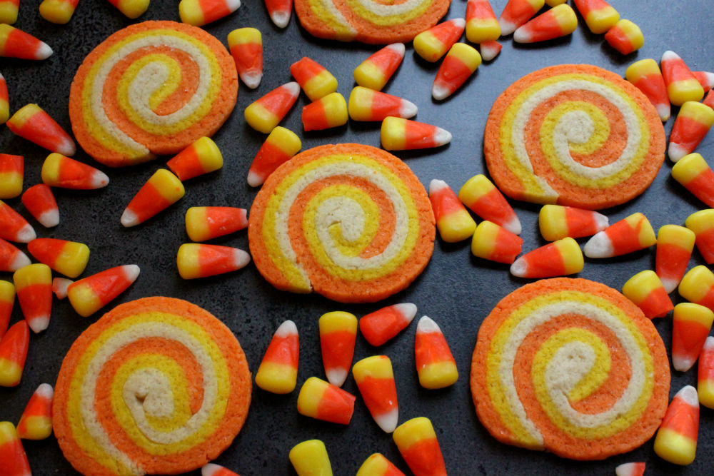 Halloween Candy Cookies  Candy Corn Swirl Cookies