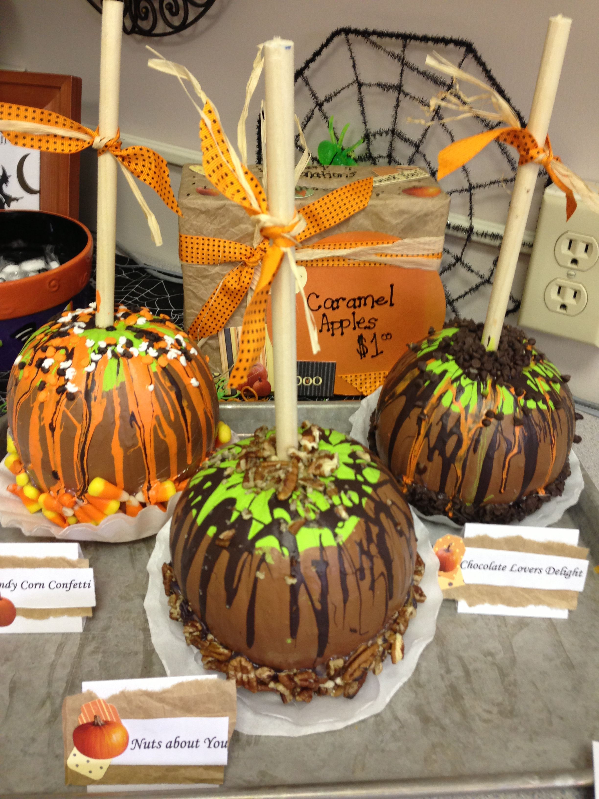 Halloween Caramel Apples Ideas  Caramel apple pumpkins I made for the pumpkin decorating