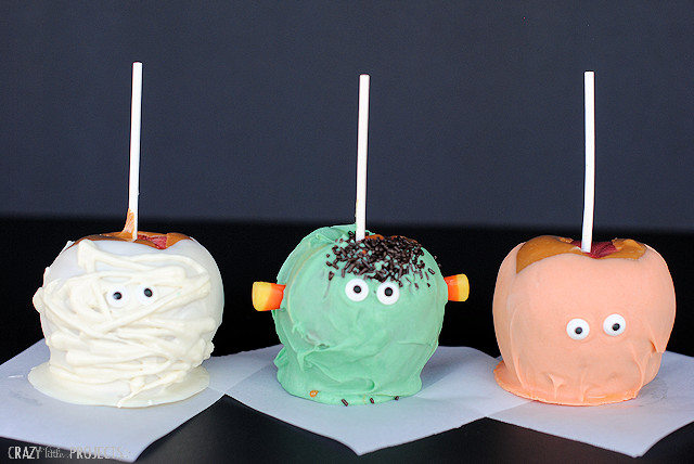 Halloween Caramel Apples Ideas  Cute Caramel Apples Pumpkin Mummy & Monster Crazy