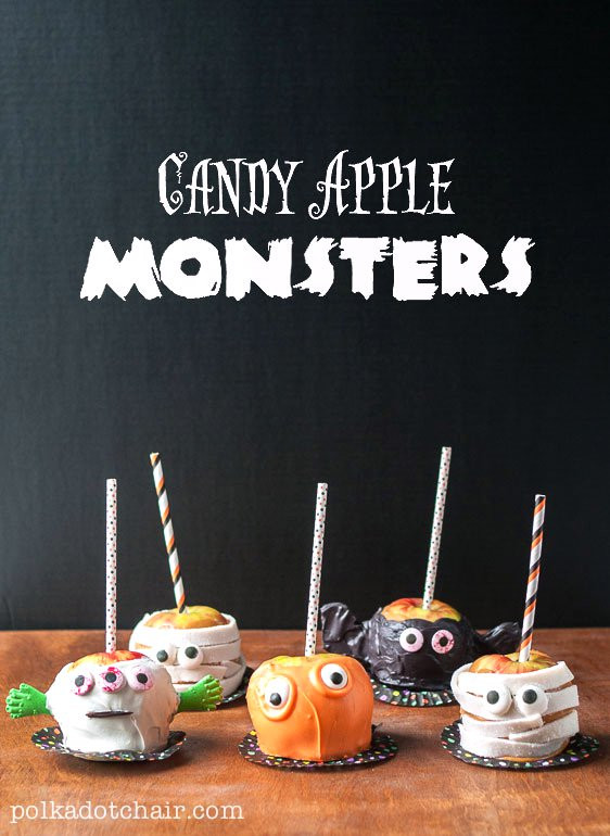 Halloween Caramel Apples Ideas  Candy Apple Monsters Caramel Apple Decorating Ideas