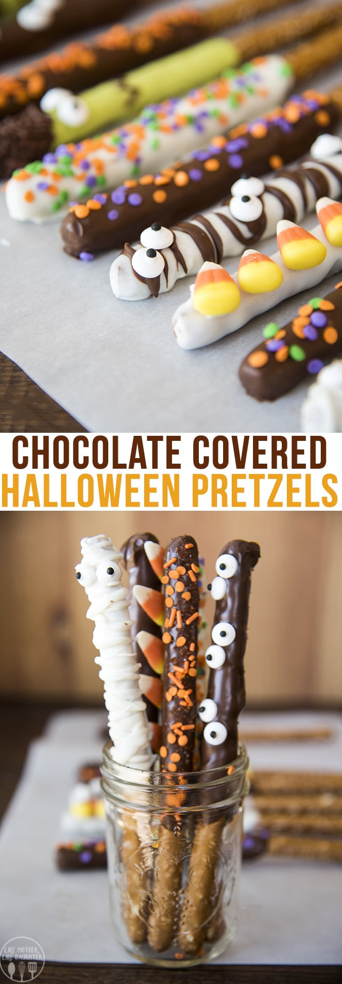 Halloween Chocolate Covered Pretzels  Chocolate Covered Halloween Pretzels – Like Mother Like