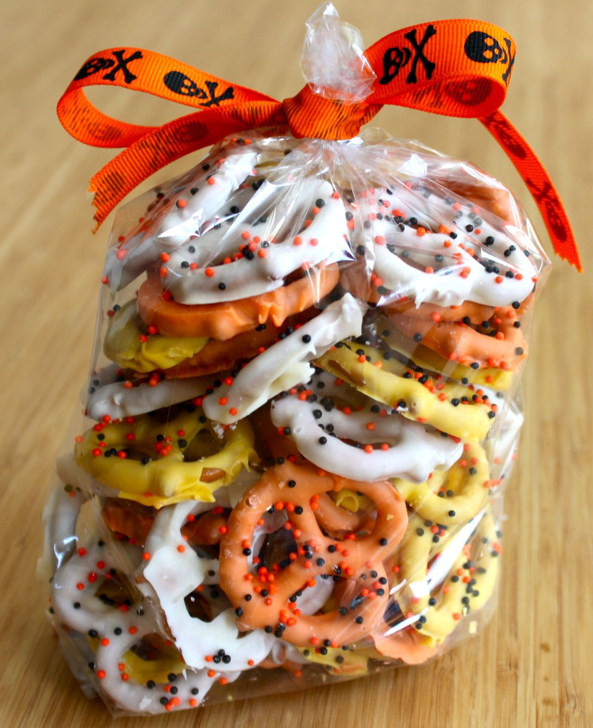 Halloween Chocolate Covered Pretzels  age appropriate activities for adults with disabilities