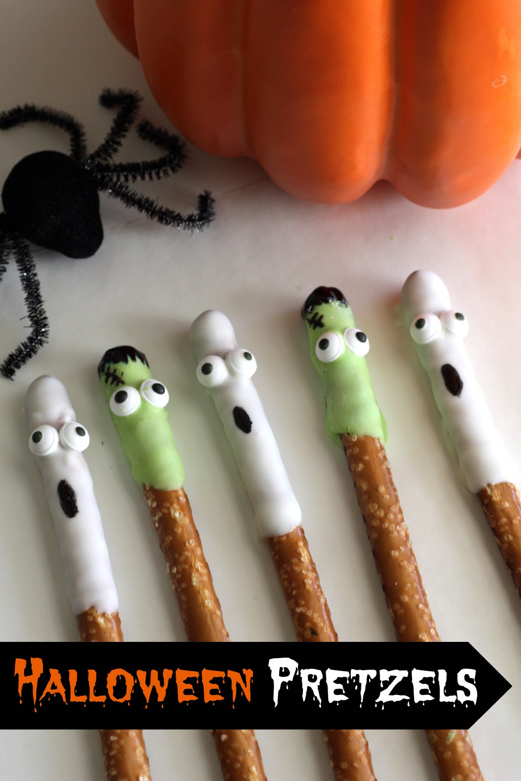 Halloween Chocolate Covered Pretzels  Halloween White Chocolate Covered Pretzels