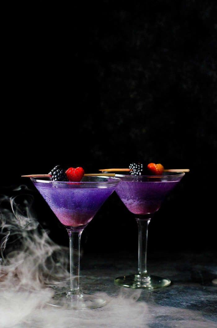 Halloween Cocktails Drinks  The Witch s Heart Halloween Cocktail The Flavor Bender