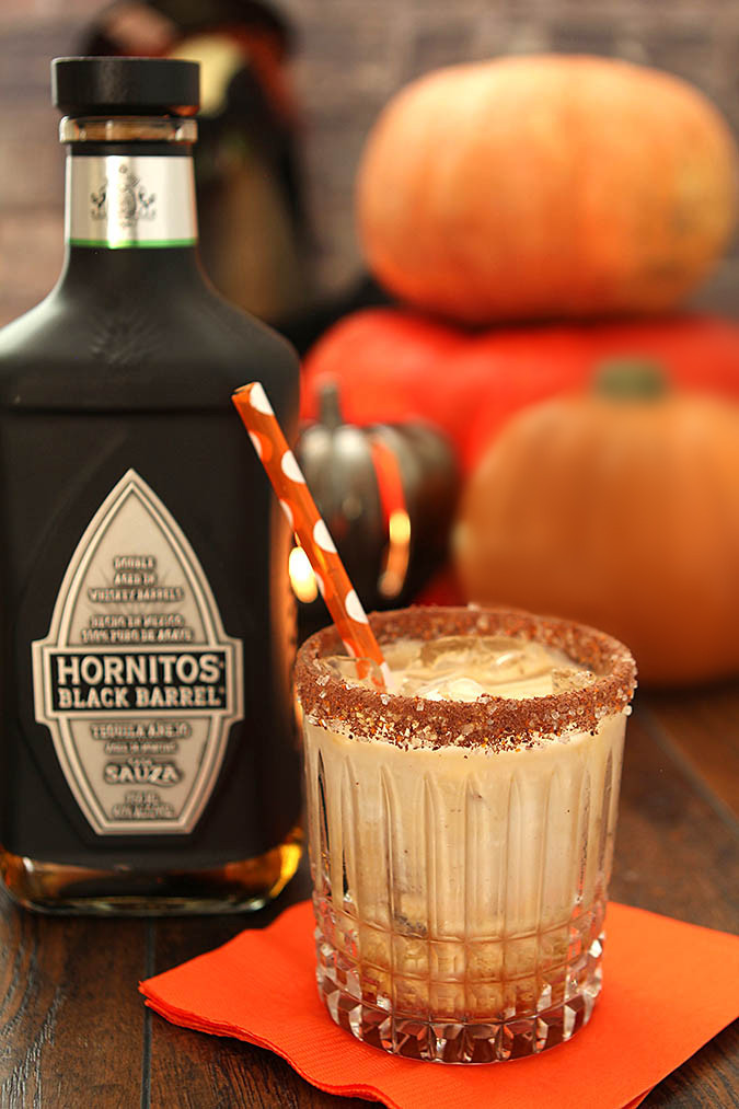 Halloween Coffee Drinks  The Black Goblin Cocktail with Tequila Kahlua and Cream