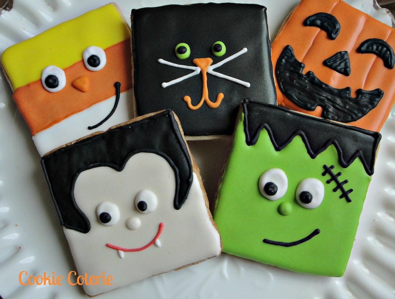 Halloween Cookies Decorating  Halloween Cookies Frankenstein Vampire Candy Corn Black Cat