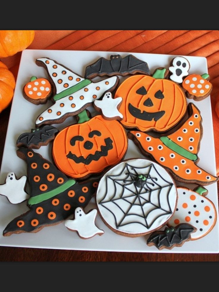 Halloween Cookies Decorating  Best 25 Pumpkin sugar cookies decorated ideas on