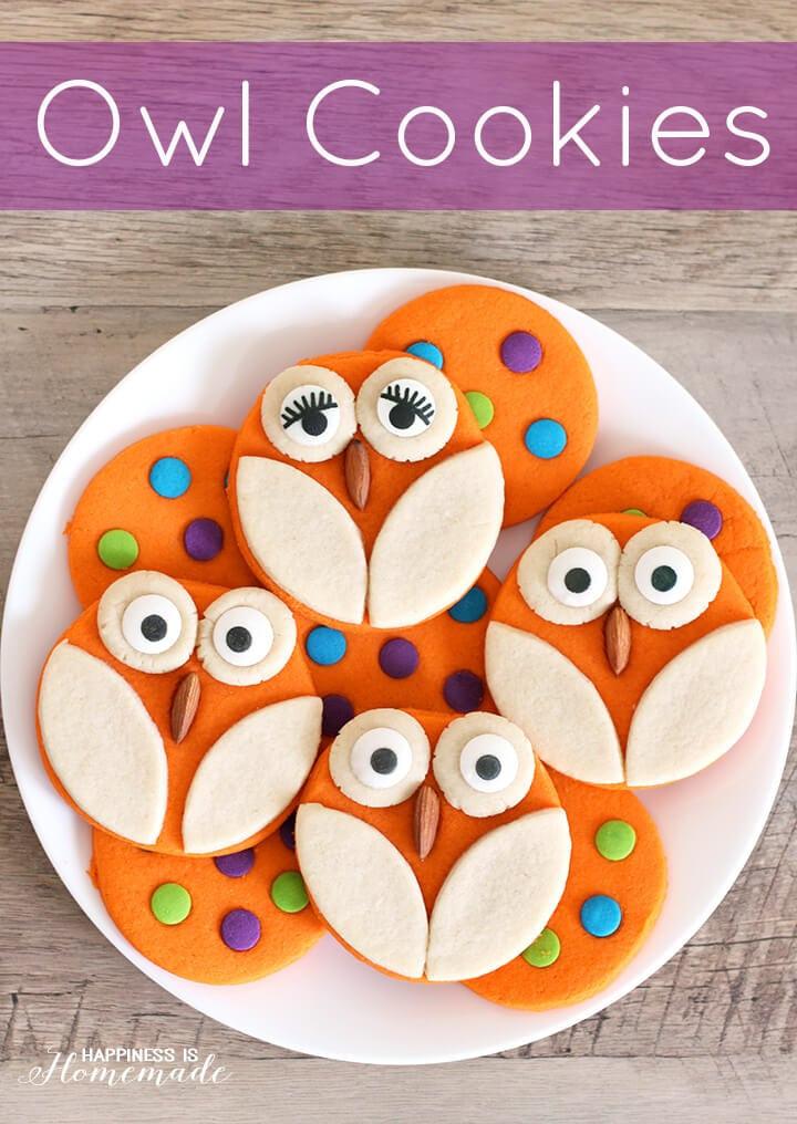 Halloween Cookies Pictures  Halloween Baking Owl Cookies Happiness is Homemade