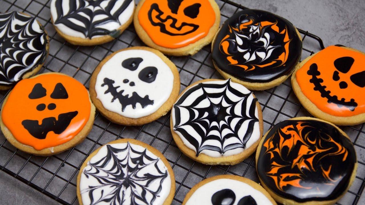 Halloween Cookies Pictures  Recette des biscuits d Halloween Halloween Cookies
