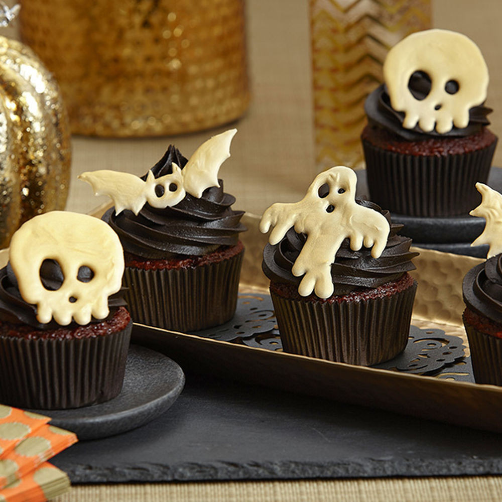 Halloween Cup Cakes  Candy Creeper Halloween Cupcakes