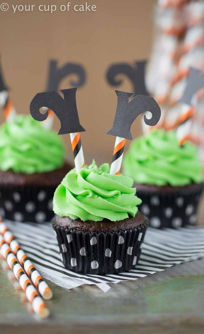 Halloween Cupcake Cakes  Wicked Witch Cupcakes Your Cup of Cake