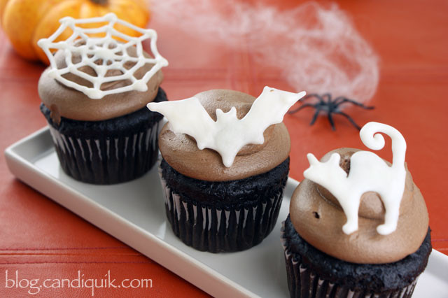 Halloween Cupcakes Toppers  Easy DIY Halloween Cupcake Toppers