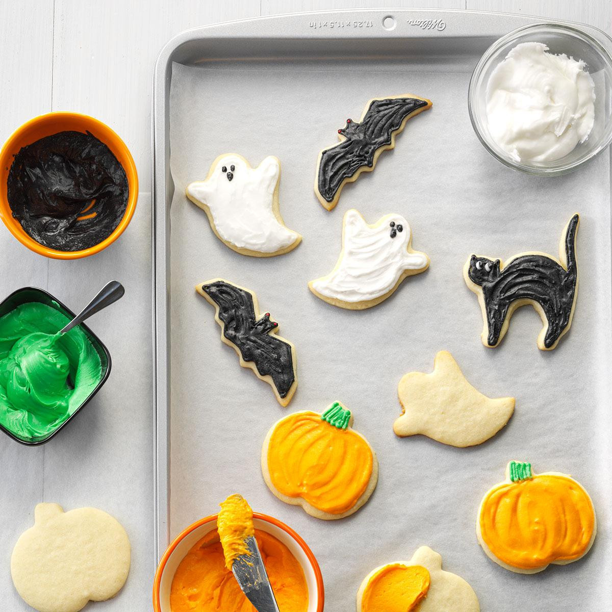Halloween Cut Out Cookies  Halloween Party Cutout Cookies Recipe