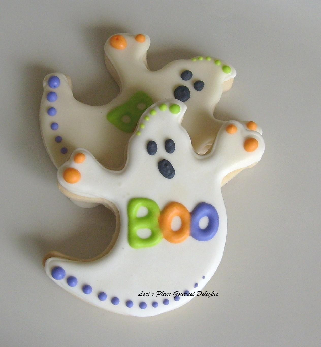 Halloween Decorated Cookies  Ghost Decorated Cookie Favors Halloween Cookie Favors 1