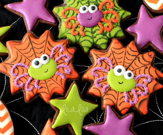 Halloween Decorated Cookies  How to Make Decorated Halloween Spider and Spiderweb