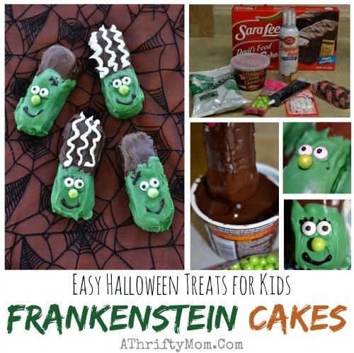 Halloween Desserts For Kids  Halloween Food recipes Easy Halloween Frankenstein Cakes