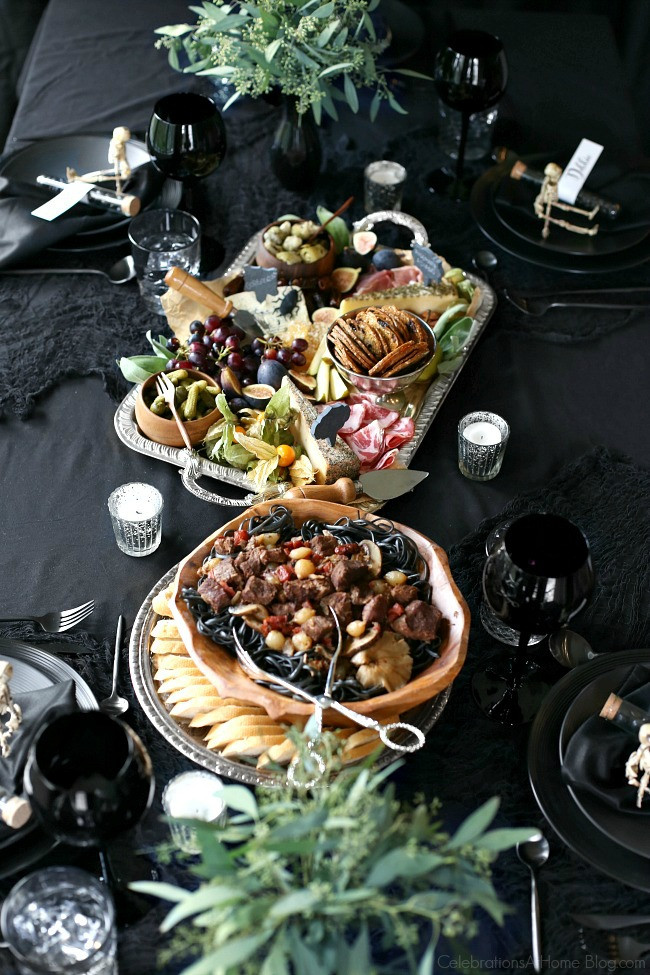 Halloween Dinner Ideas For Adults  Halloween Themed Dinner Party in Black Celebrations at Home