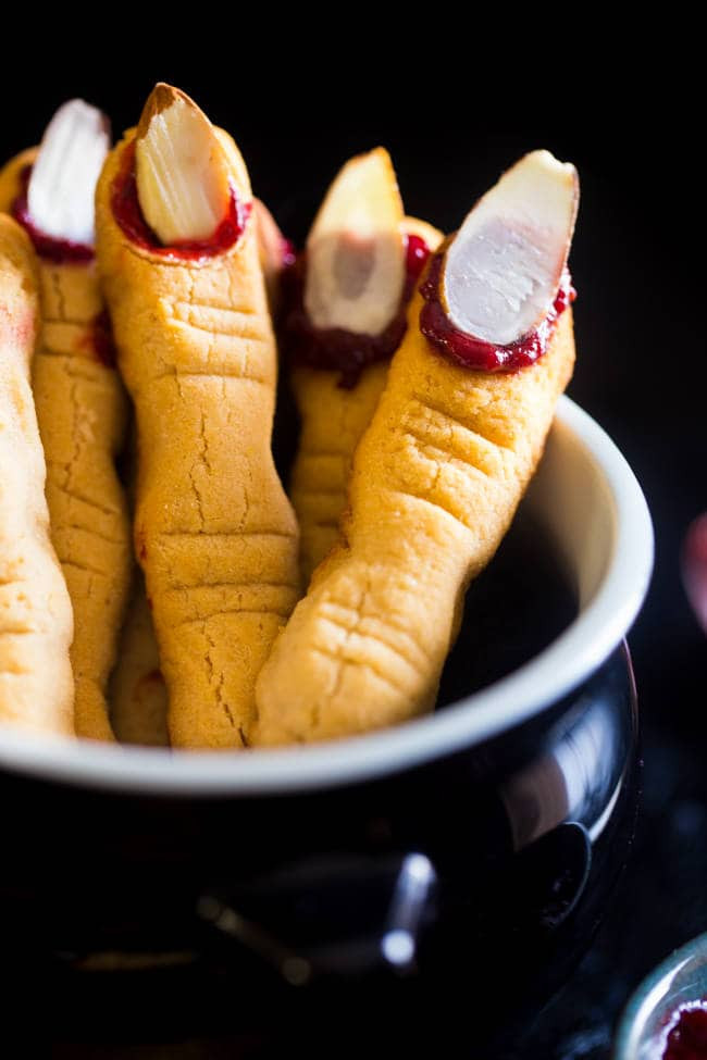 Halloween Finger Cookies Recipes  Paleo Witch Finger Cookies Vegan
