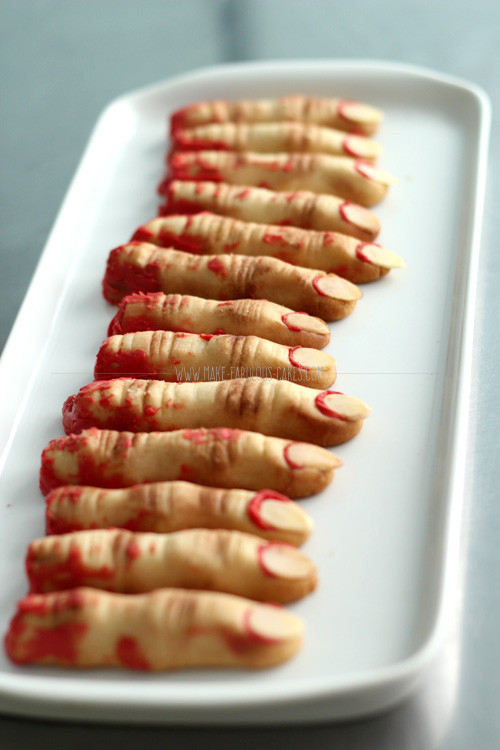 Halloween Finger Cookies Recipes  Zombie Finger Cookies