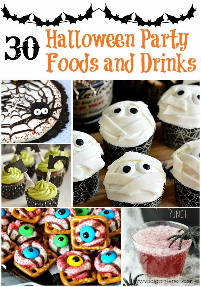 Halloween Food And Drinks  30 Halloween Party Foods and Drinks I Dig Pinterest