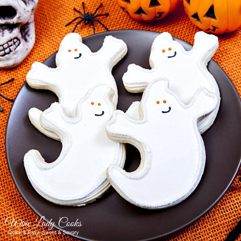 Halloween Ghost Cookies  Halloween Ghost Cookies