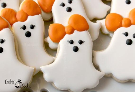 Halloween Ghost Cookies  Girly Ghost Cookies Casper Halloween Ghost Halloween